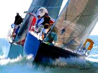 Sail boat racing