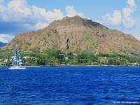 DIamond Head Volcano from the Pacific Ocean