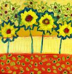 Amongst the Sunflowers No 2