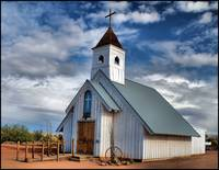 Chapel near Superstition mountain, Arizona