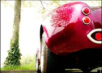 AC Cobra Parked in Red