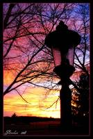 Lamp Post at Sunset by J.Everhart