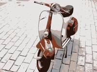 Vespa Scooter in Brown