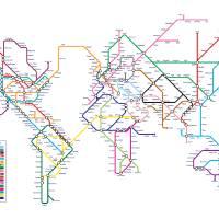 """World Tube Metro Map"" by ModernArtPrints"