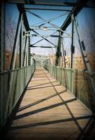 Willimantic Footbridge by Sara Fraser
