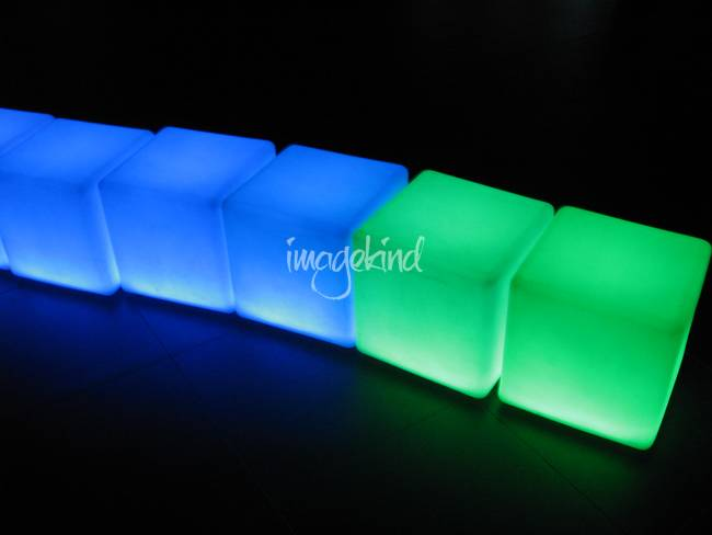 glowing cubes by sun