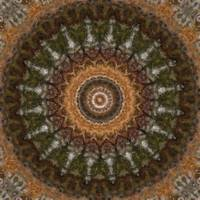 Harvest Day Impasto Kaleidoscope Art 2 by Christopher Johnson