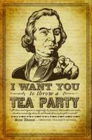 Sanuel Adams Tea Party Poster