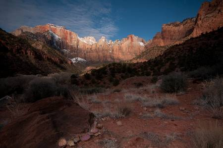 Morning, The West Temple and Towers, Zion National