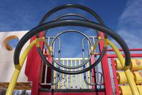 Metal Rings Leading Onto Play Structure