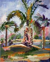Palm Tree on Jekyll Island Oil Painting by Ginette