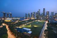 Singapore - Cityview in blue hour