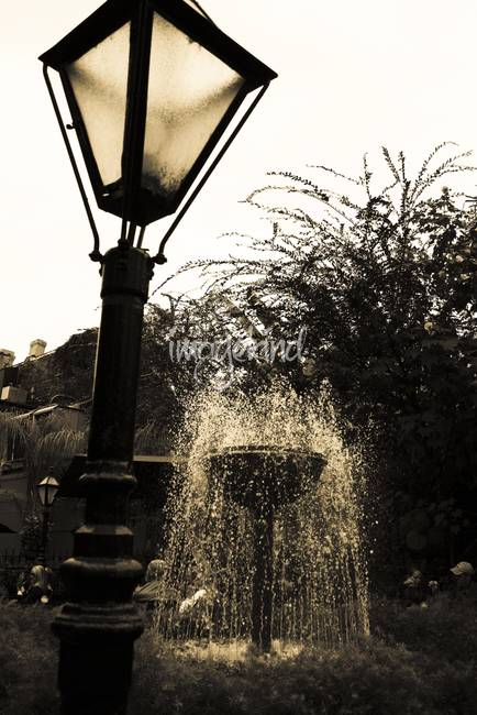 Lantern and Fountain