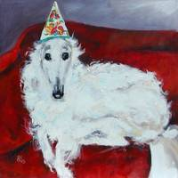 Borzoi Tina  Original painting by Ginette Callaway