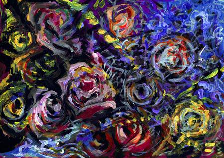 Abstract Roses 3 by Alexandra Cook