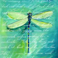 """""""Green Dragonfly"""" by HandwrittenLife"""