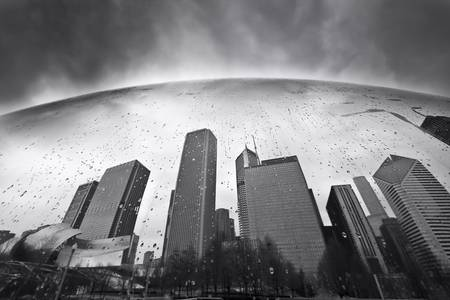 Chicago: Cloud Gate by Dapixara Black White Photography