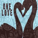 ONE LOVE - TWO SWAN SILHOUETTE Posters