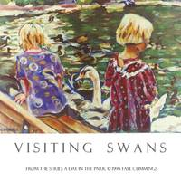 Visiting Swans Poster Print by Faye Cummings