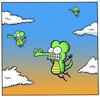 Falling Crocs - Pearls Before Swine by Art by Comics.com