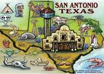 San Antonio TEXAS Map