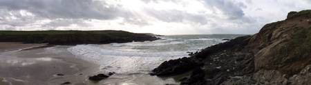 Cable bay panorama, Anglesey