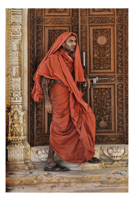 Hindu monk at a temple in Bhuj, Gujarat