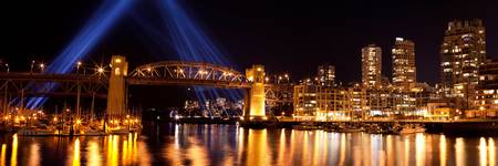 Vancouver Burrard Bridge Evening Lights 1