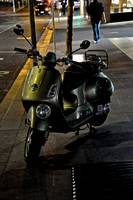 Scooter at night