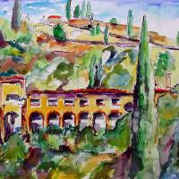 """Italian VILLA in The Hills Painting by Ginette"" by GinetteCallaway"
