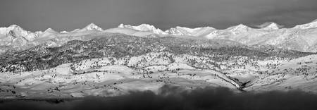 Colorado Rocky Mountain Panorama Boulder County BW