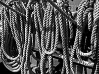 USS Constitution - Ropes for the Rigging BW 1