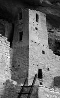 Square Tower, Cliff Palace ( B&W ) by Michael Stephen Wills