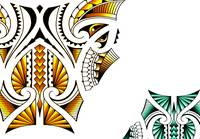 Polynesian inspired tattoo art