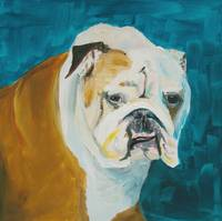 Bulldog Buster Painted Portrait