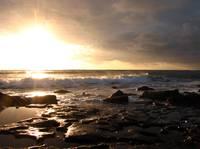 Sunset and Surf by David Kocherhans