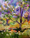 Spring in Provence Oil Painting by Ginette Callawa