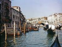 Venice Ponti Rialto Bridge and Gondolas