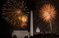 Fireworks over Washington, DC