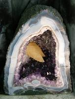 Amethyst Geode with Dogtooth