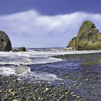 On A Clear Day at Ruby Beach, WA Art Prints & Posters by Char Doonan