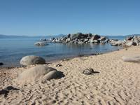 Sandy Beach at Lake Tahoe by Carol Groenen
