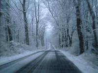 snow road home
