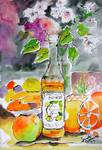 Lemon De Monin Still Live Watercolor by Ginette