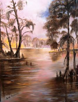 Louisiana Cypress Bayou By Arlen Avernian Thorensen