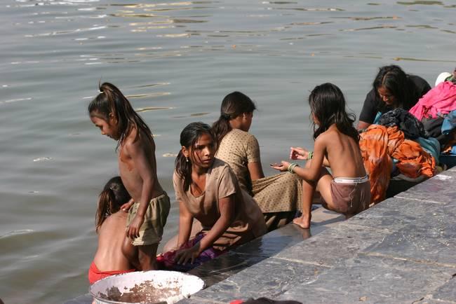 . Bathing in Udaipur  India by Erick Tseng