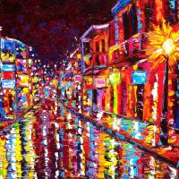 """Hot night on Bourbon St"" by neworleansartist"