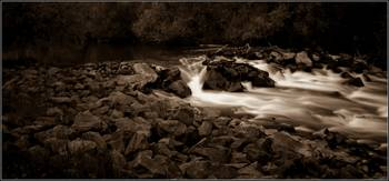 Waterfall ND in sepia