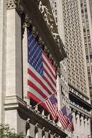 New York Stock Exchange Flags