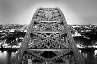 Hellgate Bridge Steel Arch B&W NYC 2007
